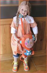 Lillemore in orange (MiriamBJDolls) Tags: orange doll vinyl limitededition 2007 monkeybag annettehimstedt clubdoll lillemore himstedtkinder