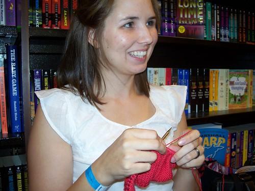 Eileen knitting