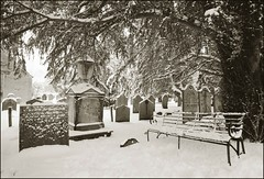 Church Graveyard in snow -  Grasmere,Lake District National Park