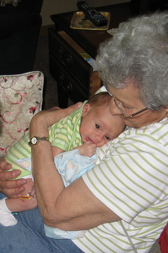 JT with his great grandma
