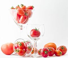 Tomato Party (espion) Tags: party stilllife tomato riot 100v10f whitebackground pf wineglasses cherrytomato 1000v gtaggroup pf07 fm20024 chalcidic