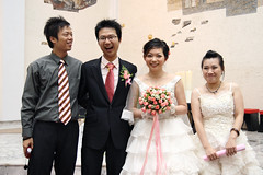 Wedding of College Schoolmate - Anchi Chang (*Yueh-Hua 2016) Tags: canon eos catholic taiwan catholicchurch tamron  30d   a16 taipeicounty   canonspeedlite430ex canoneos30d horizontalphotograph  tamronspaf1750mmf28xrdiii   2007august   sindiancity anchichang collegeschoolmate
