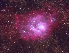 Lagoon Nebula M8 (NGC 6523), in Sagittarius - by Rob Johnson (edhiker) Tags: starfish astro rob m8 105 fishcamp edhiker blueribbonwinner 20da