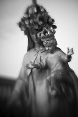 Mary2 (The Legendary Cobo) Tags: statue lensbaby catholic michigan wyandotte wronglens