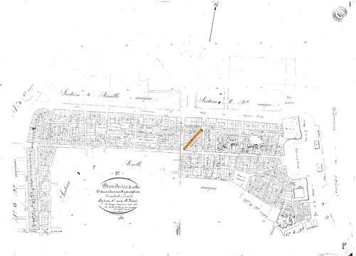 Bordeaux, 2eme arrondissement, site de St Remi, 1851