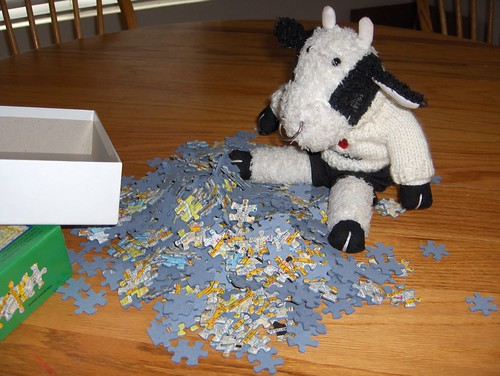 Hmmm, I don't think there are really 500 pieces here. I'd better count them. 1...2...3...4...5...