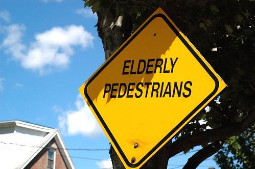 elderly pedestrians