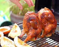 Beer can chicken - literally combining beer and BBQ. Thanks to Suup on Flickr for the photo.