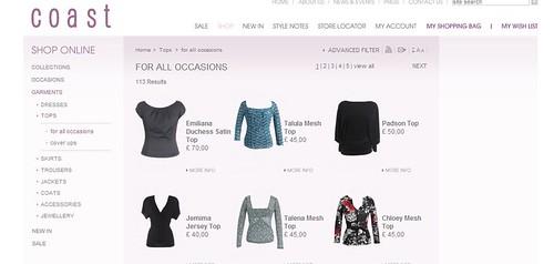 coast browse options