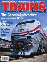 Amtrak Genesis Locomotive on the cover of Trains Magazine, September 1993_img898 (Wampa-One) Tags: train engine amtrak cover locomotive genesis ge trainsmagazine september1993 nationalrailroadpassengercorporation