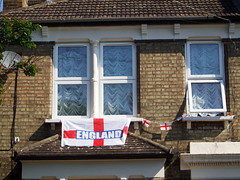 Come on England 4 (tezzer57) Tags: windows london football flag stgeorge balham londonist comeonengland worldcup2010 finepixf40fd wc2010