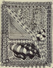 Walley World (molossus, who says Life Imitates Doodles) Tags: art journal tangle zentangle zendoodle zentangleinspiredart