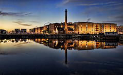 Albert Dock (gibbopool2003) Tags: sunrise mirror dock shine pumphouse albertdock platinumphoto