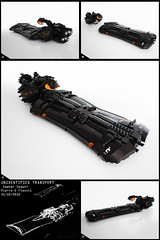 Unidentified Transport (Pierre E Fieschi) Tags: fiction lego pierre space alien transport cargo micro spaceship spacecraft freighter fieschi microscale microspacetopia
