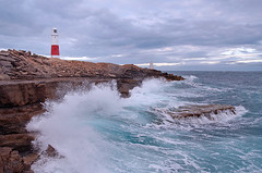 Portland Bill Lighthouse (needles1976) Tags: ocean sea cliff lighthouse seascape storm motion cold beach monument nature water rock stone clouds bay moving sand rocks surf waves harbour patterns tide side stormy cliffs