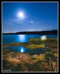 Playa de la Grua (Popewan) Tags: sea moon mar luna reflejo nocturna straightfromcamera nightstars p1f1 puertodemazarron anawesomeshot superbmasterpiece excellentphotographerawards youvegottheeye