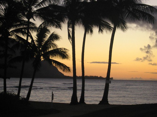 Sunset Across Hanalei Bay