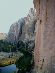 dreamin' 5.12a / smith rock (chris frick) Tags: usa oregon climbing classics smithrock monkeyface aidclimbing smithrockstatepark 510b 514c dihedrals 514a aggrogully