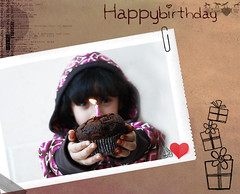 Happy birthday [ BlaCk PearL ] qTr =D ([  //  QTR) Tags: black cute girl cake kid chocolate happybirthday pearl mishmish albandri klydala3