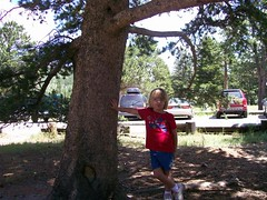 hayley leaning on tree