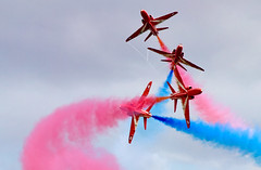 Near miss (C Ray Dancer) Tags: blue red white scotland smoke airshow planes soe redarrows aerobatics eastfortune mywinners anawesomeshot