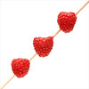Three on a spear (Rune T) Tags: red square 50mm three juicy berry pattern close angle sweet fresh stick raspberries