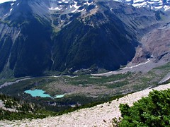 View from the trail, just one step to get to the Glacier below.....