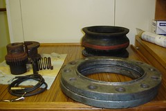 Old parts from the engineers