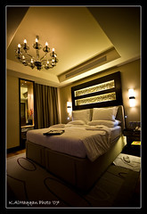 Good Night (Khalid AlHaqqan) Tags: ex night canon 350d lights hotel design dc bed dubai interior room sigma 1020mm luxury khalid resident sigma1020mm kempinski f456 hsm kuwson alhaqqan