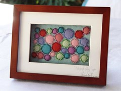 Celebrate Colour - felt art (a little bit of just because) Tags: beads felt textileart handsew