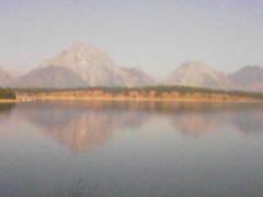 Early morning reflection via fonecam (tbirdshockeyfan) Tags: cameraphone lake mountains reflection wyoming wy grandtetonnationalpark