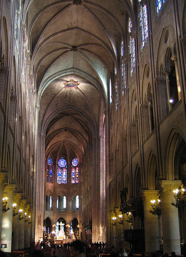 the nave of Notre-Dame, Paris
