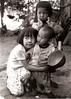 Three Hmong children (SLpixeLS) Tags: portrait children thailand asia chiangmai tribe hmong nikonf801 ilfordpaperwarmtone realblackandwhite earthasia