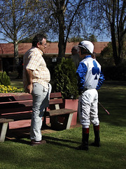 The jockey is instructed