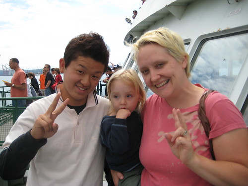 Posing with Japanse Student on the Ferry