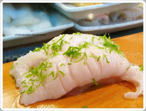 阿吉師比目魚握壽司 nigiri