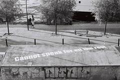 Cannot speak (ejstanz) Tags: street art film graffiti kodak stockholm 400tmx
