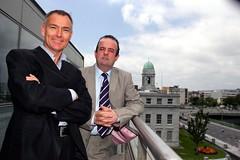 Sean O'Mahony (left) + Pat Phelan, Cubic Telecom A