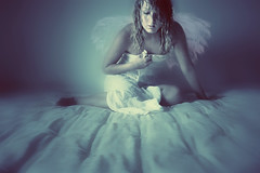 (cs.foto (simplybloomphotography)) Tags: blue angel ethereal conceptual ysplix photoshoproyalty csfoto