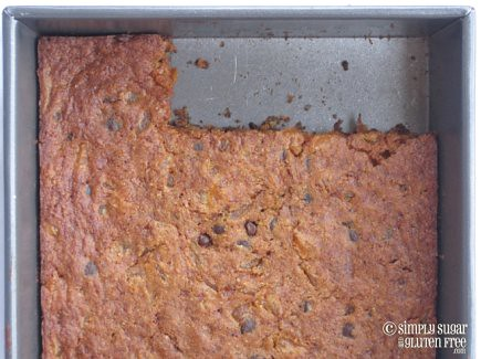Dairy Free Apricot Carob Blondies