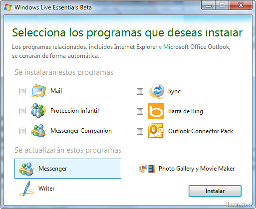 Windows Live Essentials: Beta
