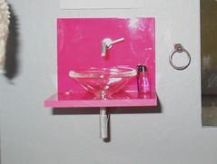 Pink ELF sink close up