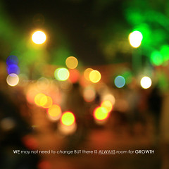 sometimes we have to be lost to find the place that can't be found . . . (s h a d i l i c i o u s ) Tags: light color night out square dof bokeh growth change