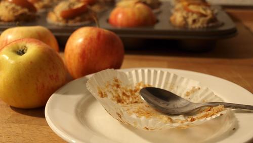 Bratapfelmuffins haben geschmeckt