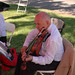 Member of String Quartet at Broome Library Groundbreaking