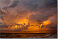 Stormy Sunset - Indian Rocks Beach, FL [Explore #107] (mlibbe) Tags: sunset sky storm beach nature clouds outdoors colorful florida pinellascounty newvision bestcapturesaoi mothernaturesgreenearth elitegalleryaoi photocontesttnc11 peregrino27newvision