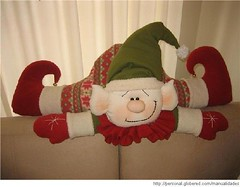 duende (alinnerj) Tags: natal fuxico feltro pap molde duende passoapasso moldedenatal nataldefeltro