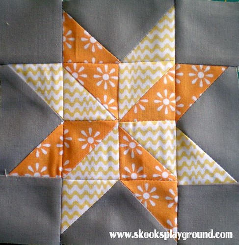 Sawtooth Pinwheel Star Block #3