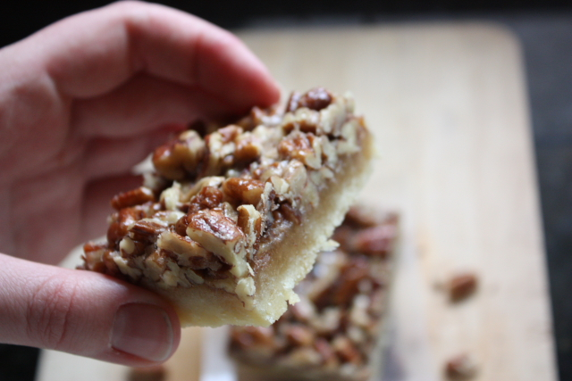 Caramelized Pecan Squares - Completely Delicious