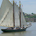 The sailing ship Lettie G. Howard on the Hudson River